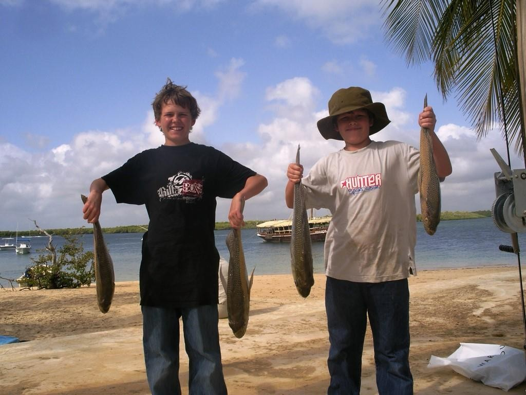 Boys Fishing at Manda Bay