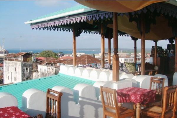 roof restaurant Hurzumi Stone Town Zanzibar
