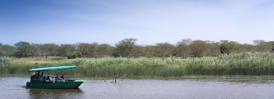 Boating safari at Phinda