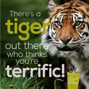 Pressies that protect from RSPB with a tiger