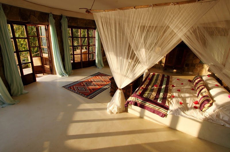 Bedroom at Ndomo Point House, Malawi