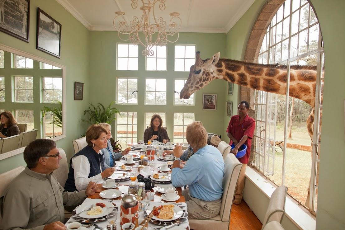 Giraffe Manor - breakfast with giraffes