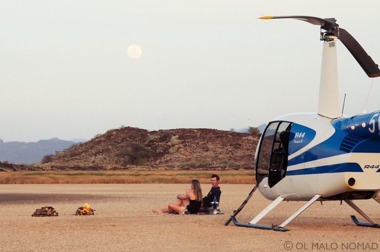 Helicopter Adventure, Ol Malo, Kenya