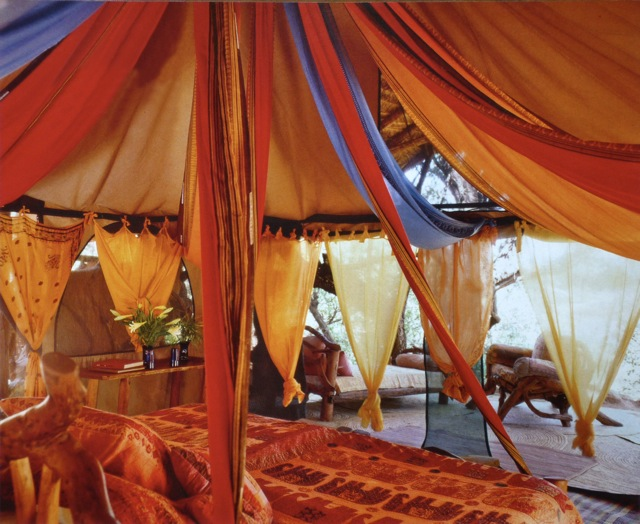 Elephant Watch Camp bedroom ethnic tent