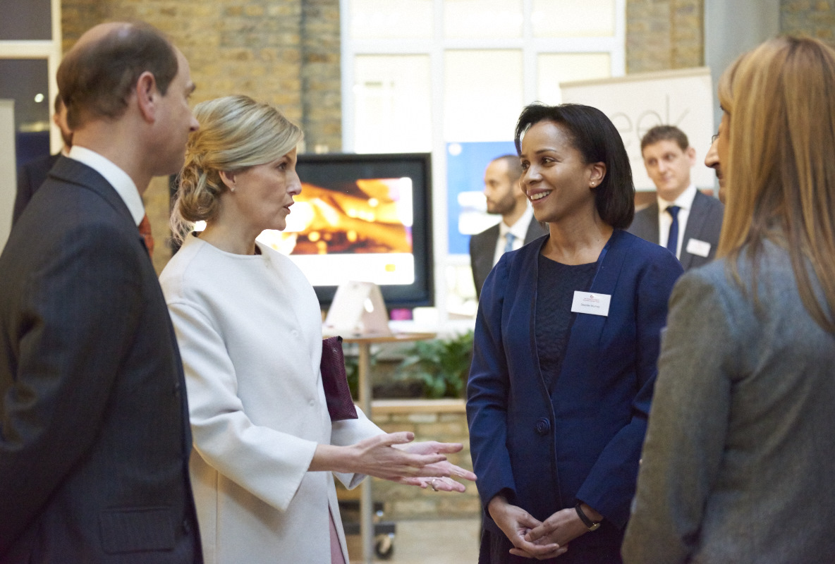 The Countess and Earl of Wessex meet some of the CEHC MSc scholars during a recent visit to the London School of Hygiene & Tropical Medicine. Photo credit The Queen Elizabeth Diamond Jubilee Trust/Tara Moore