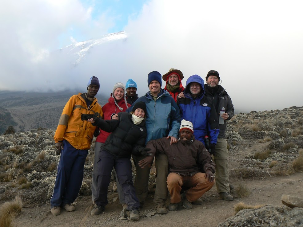 Tor and friends on the Mount Kilimanjaro climb