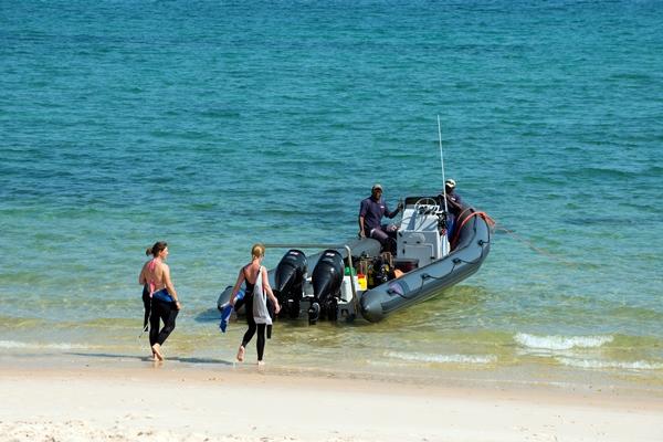 Diving in the marine park off Benguerra Island, Bengurra Island Lodge