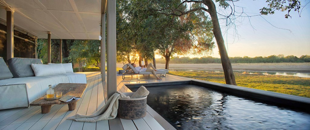 Chinzombo private infinity pool, South Luangwa, Zambia
