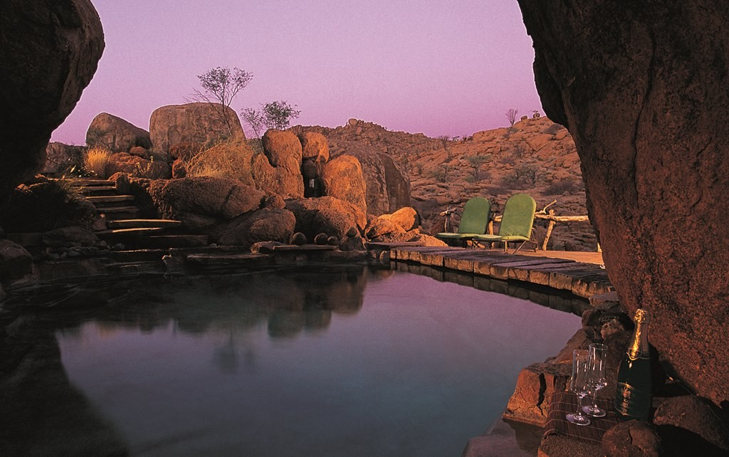 Mowani Mountain Lodge plunge pool, Damaraland, Namibia