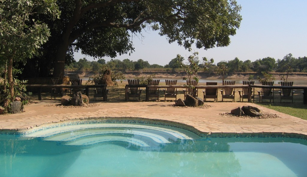 Flatdogs Camp pool, South Luangwa, Zambia