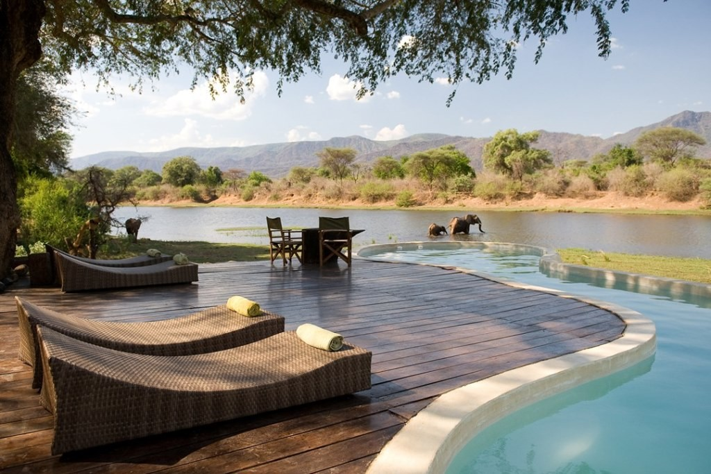 Chongwe River House pool, Lower Zambezi, Zambia