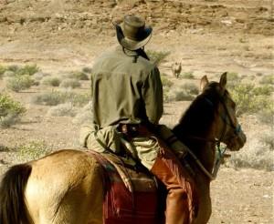 Anneman and rider Namibia Horse Safaris