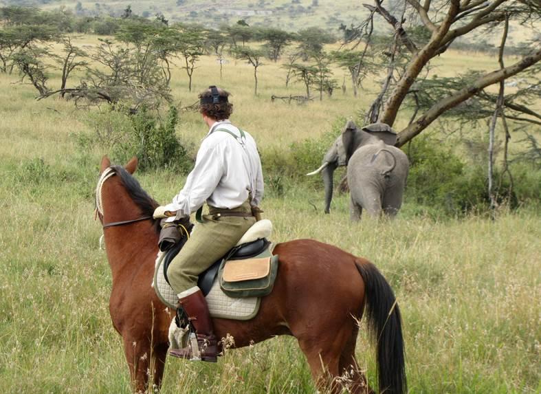Caspian with elephant Safaris unlimited kenya