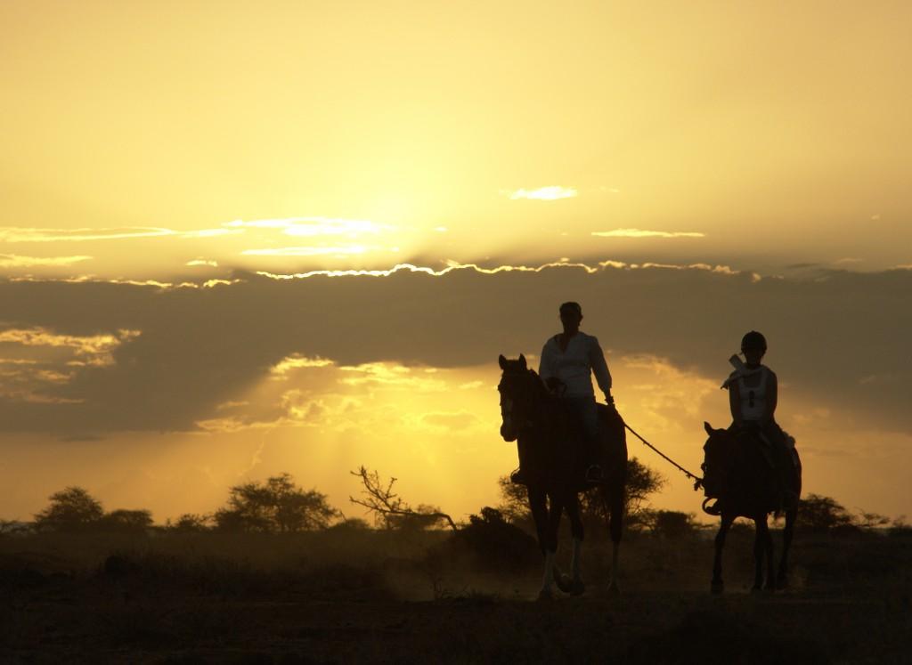 Ol Malo, riding at sunset, Ol Malo, Laikipia, Kenya