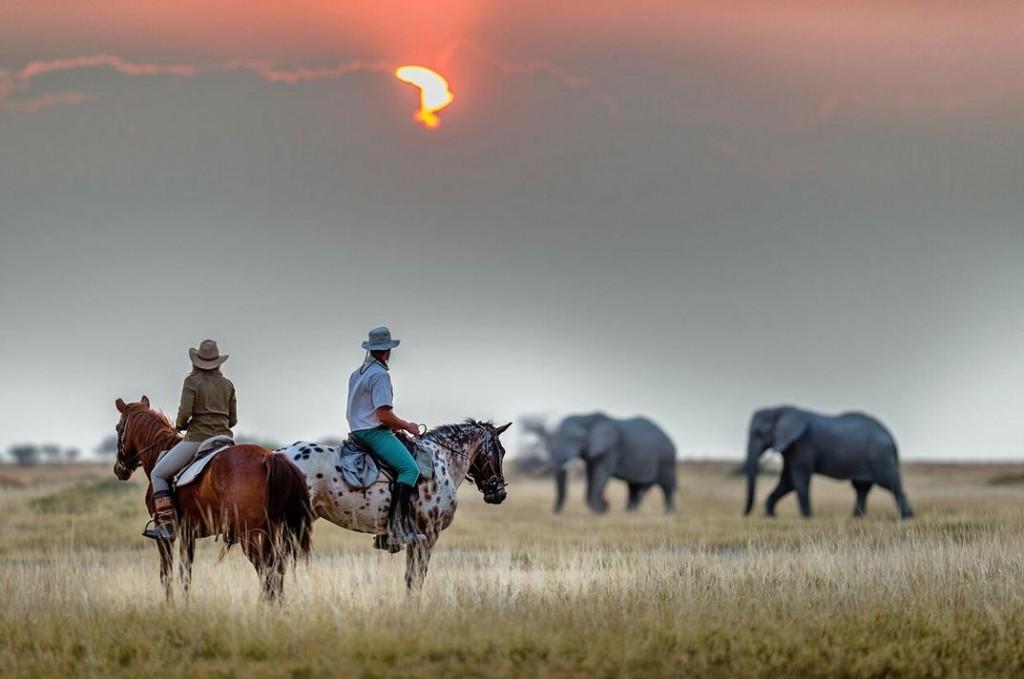 Ride Botswana sunset