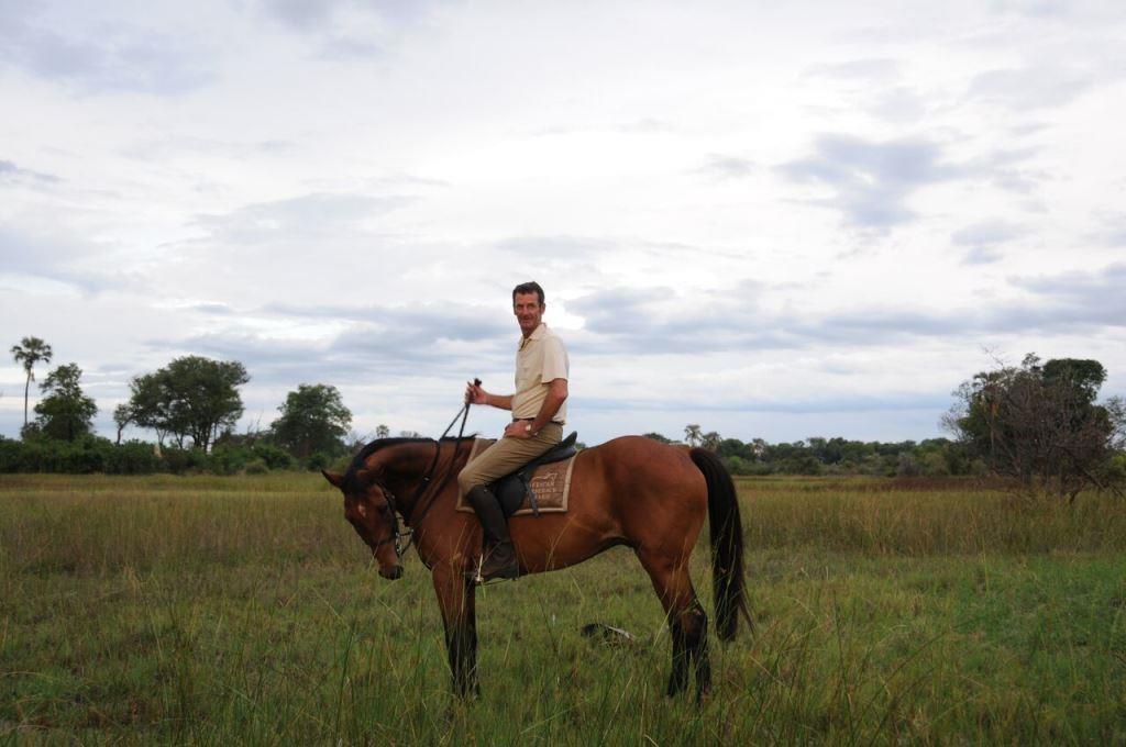 Sir Mark Todd riding San African Horseback Safaris Botswana