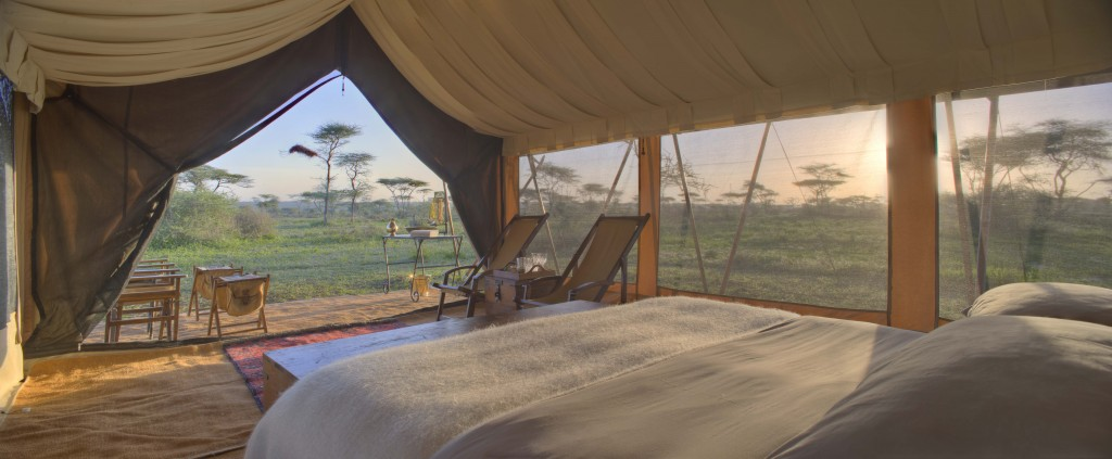Serengeti Under Canvas, Guest Room 8 view from a luxury tent