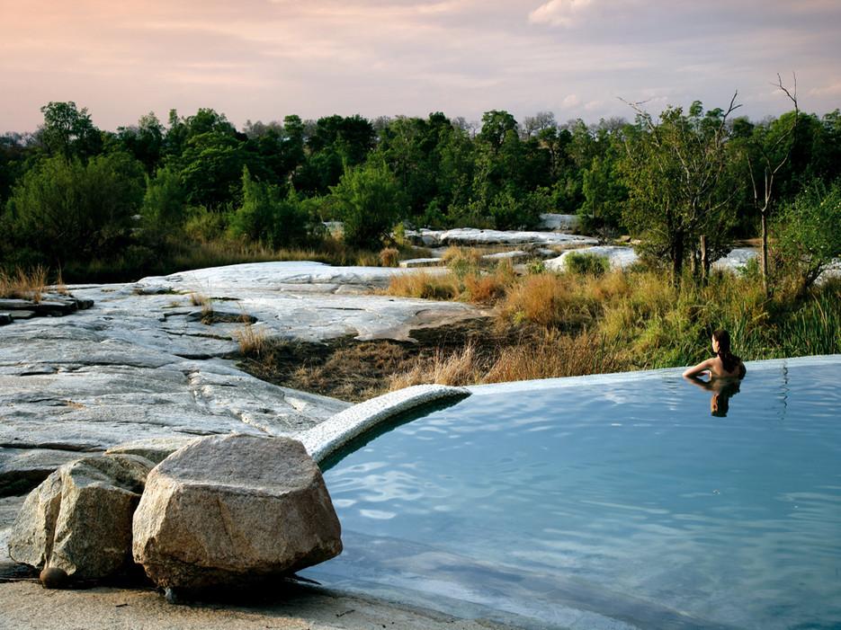 Infinity pool, Pioneer Camp Londolozi,