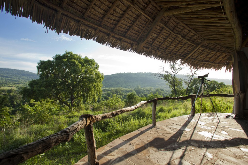 Balcony view and camera at Beho Beho Selous Game Reserve Tanzania
