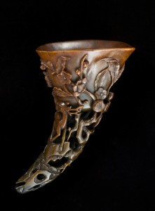 Rhino horn engraved cup image credit Asian Art