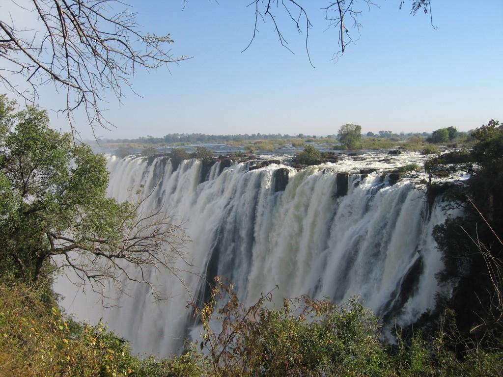 The Victoria Falls in full flow image credit Victoria Falls Hotel, Zimbabwe