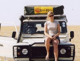 Alice Gully on a self drive safari in Africa