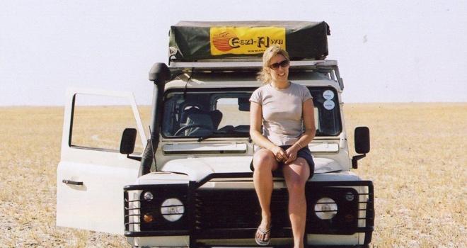 Alice Gully on a self drive safari in Africa