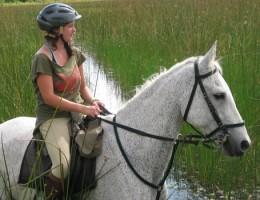 Jo on horseback