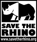 Save the Rhino black and white logo