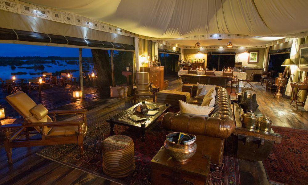 Opulent accommodation at Zarafa Camp, Botswana. Image credit: Great Plains Conservation
