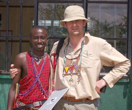 John and Mika at Koiyaki Guide School in Kenya