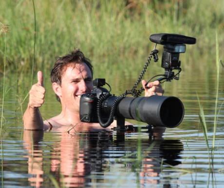 DSLR safari camera in the Okavango Delta