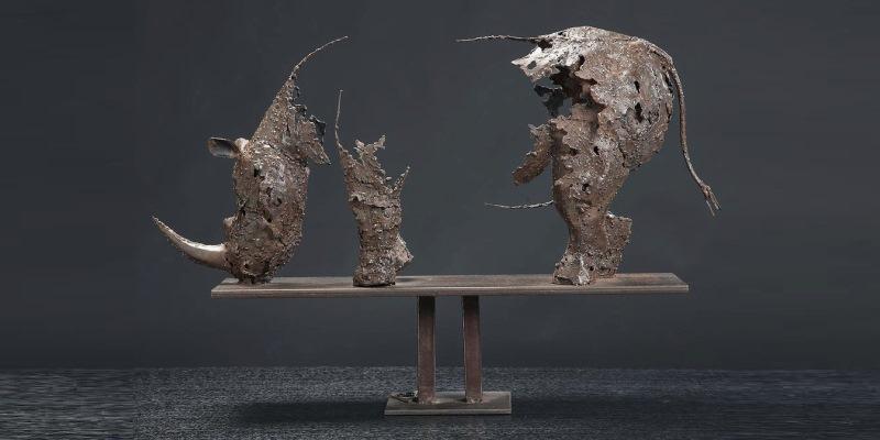 Artists Against Extinction - rhino sculpture