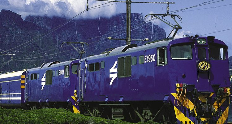 Blue Train exterior and Cape Town