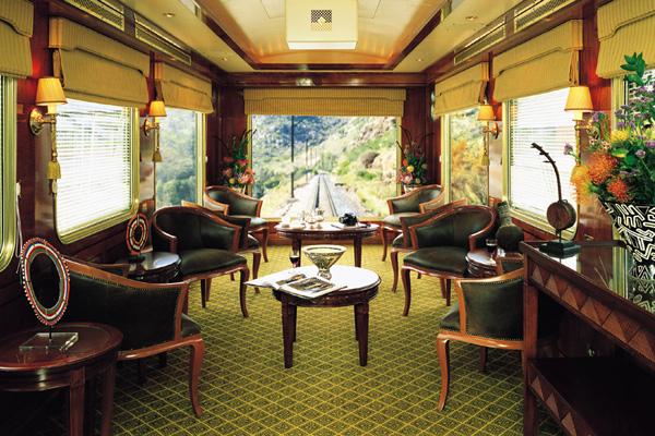 Elegant observation car, Blue Train luxury train