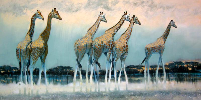 Giraffe print for Artists Against Extinction
