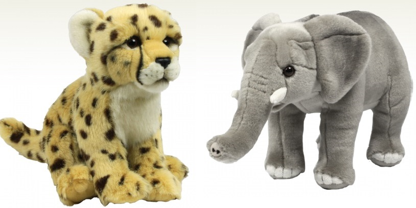 Cuddly cheetah and elephant from WWF shop