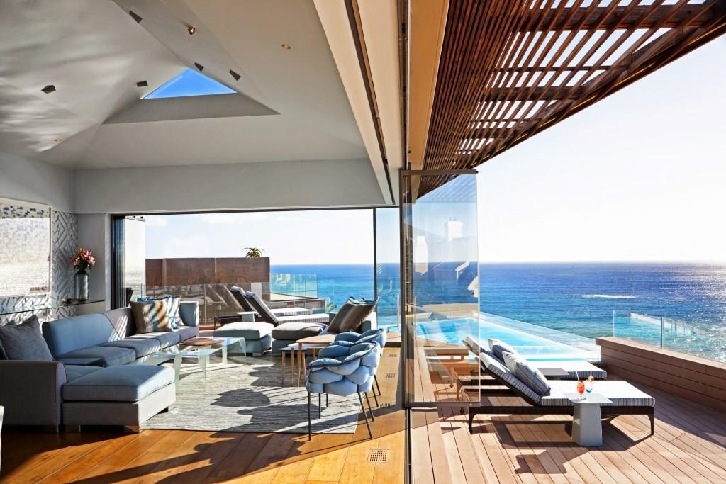 Ellerman House private villa 2, sea view from the terrace, Garden Route, South Africa