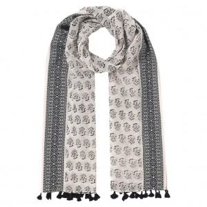 East Jacquard Border Scarf from John Lewis