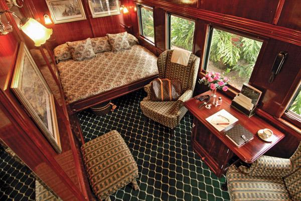 Rovos Rail Bedroom, luxury train