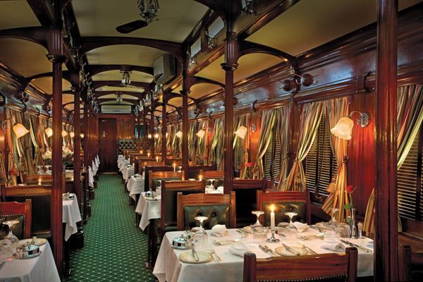 Rovos Rail dining car luxury train