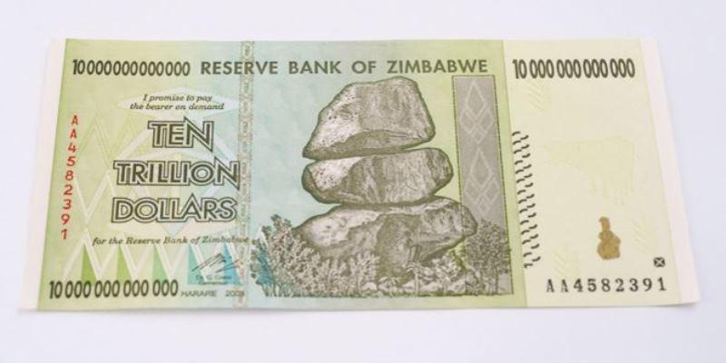 Ten trillion Zimbabwe dollar note