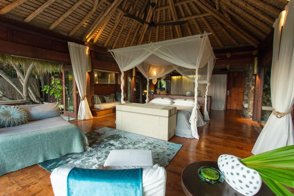 Bedroom, North Island, Seychelles African beach villas