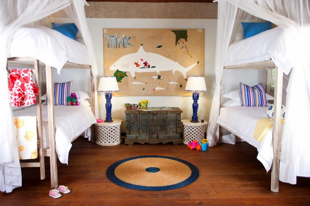 Casamina villa, children's bedroom, Vamizi private villa, Mozambique