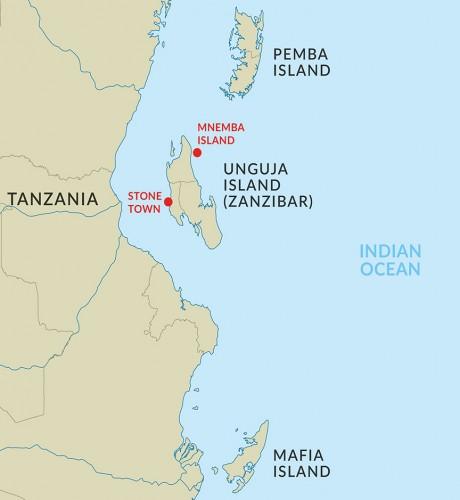 Map Of Africa Zanzibar.Zanzibar Exotic Spice Island White Sand Beaches Historical Stone