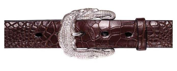 Crocodile Silver Belt Buckle