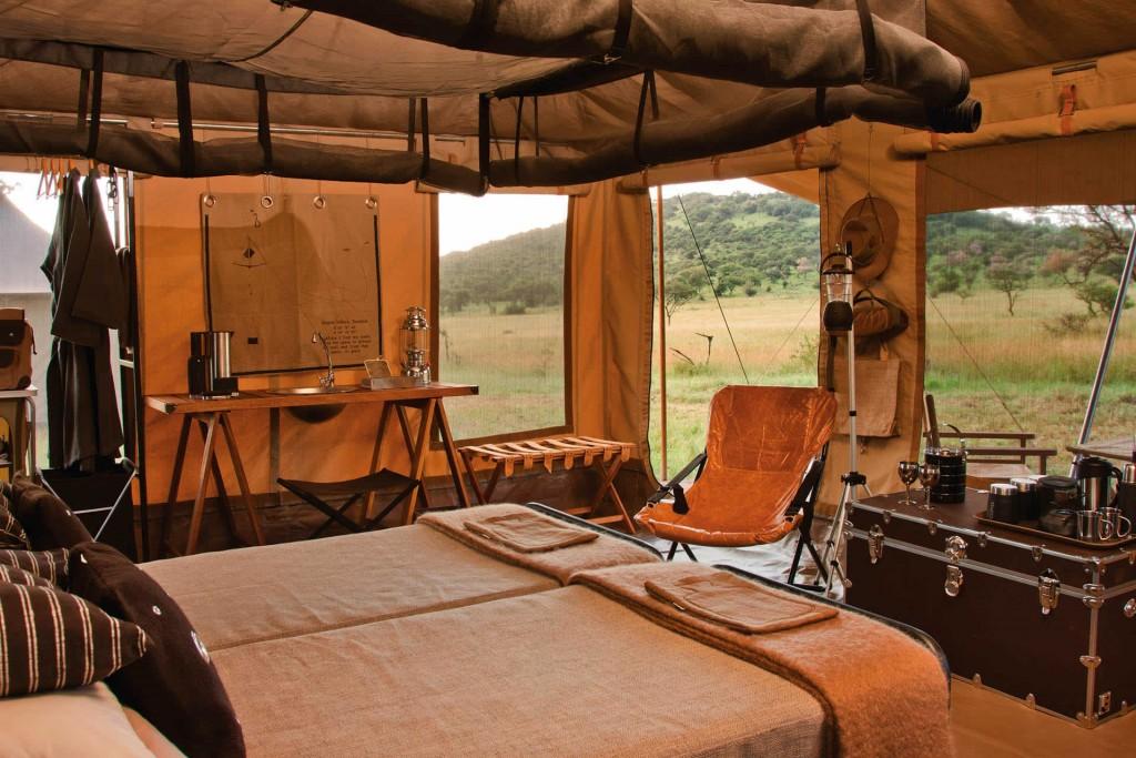 Safari tent at Singita Explore