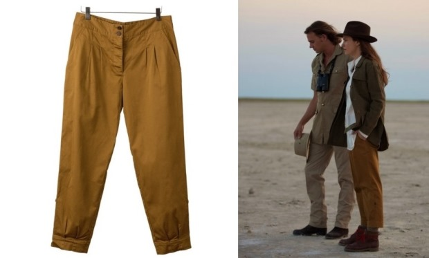 Hickman and Bousfield - Dark Khaki Pleat Front Pants safari clothes