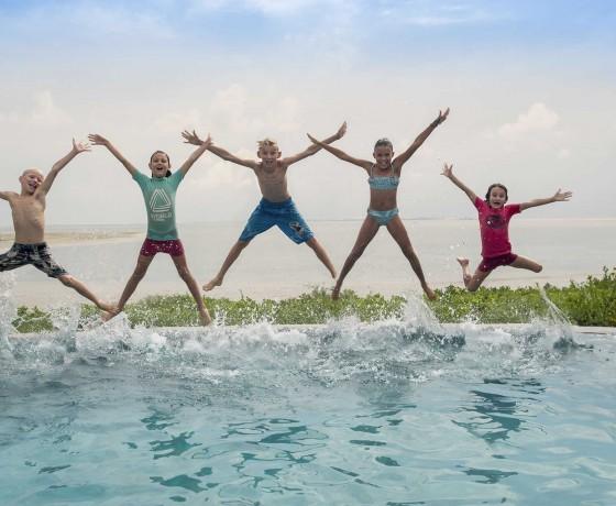 Family safari and beach combinations