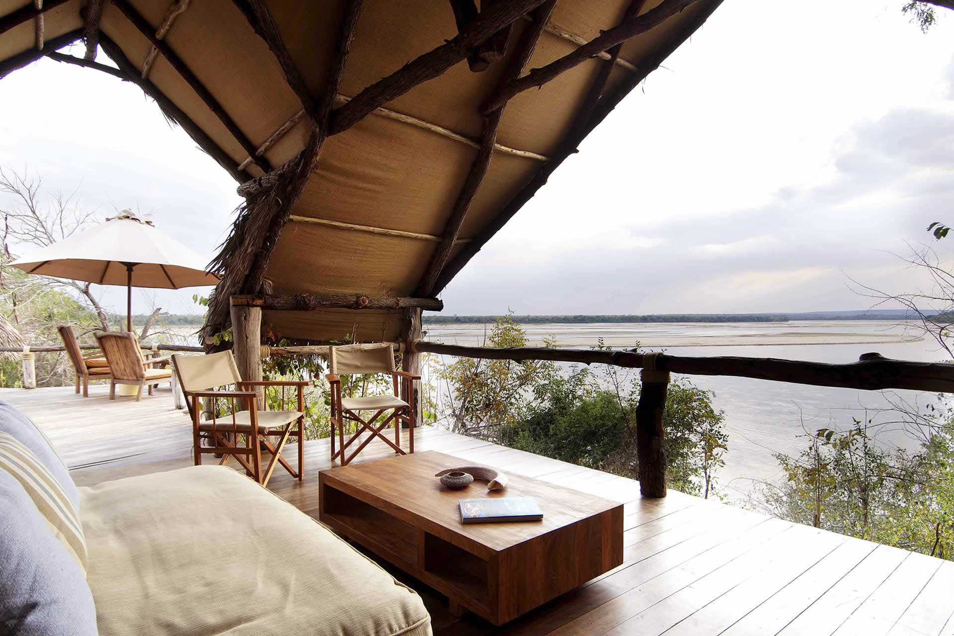 Sand Rivers Selous suite overlooking the river